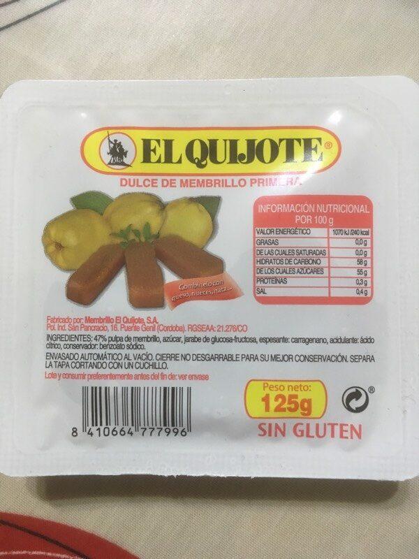 Dulce de membrillo - Produkt