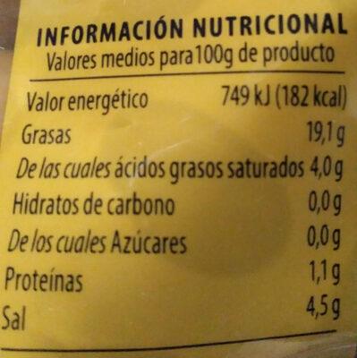Aceitunas manzanilla con hueso - Informations nutritionnelles - es