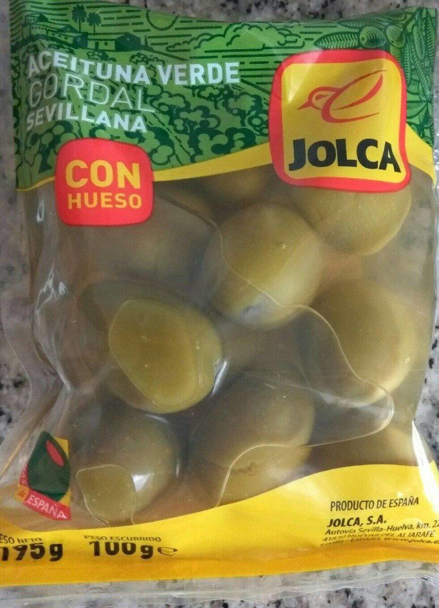 Aceituna verde gordal con hueso - Product - es