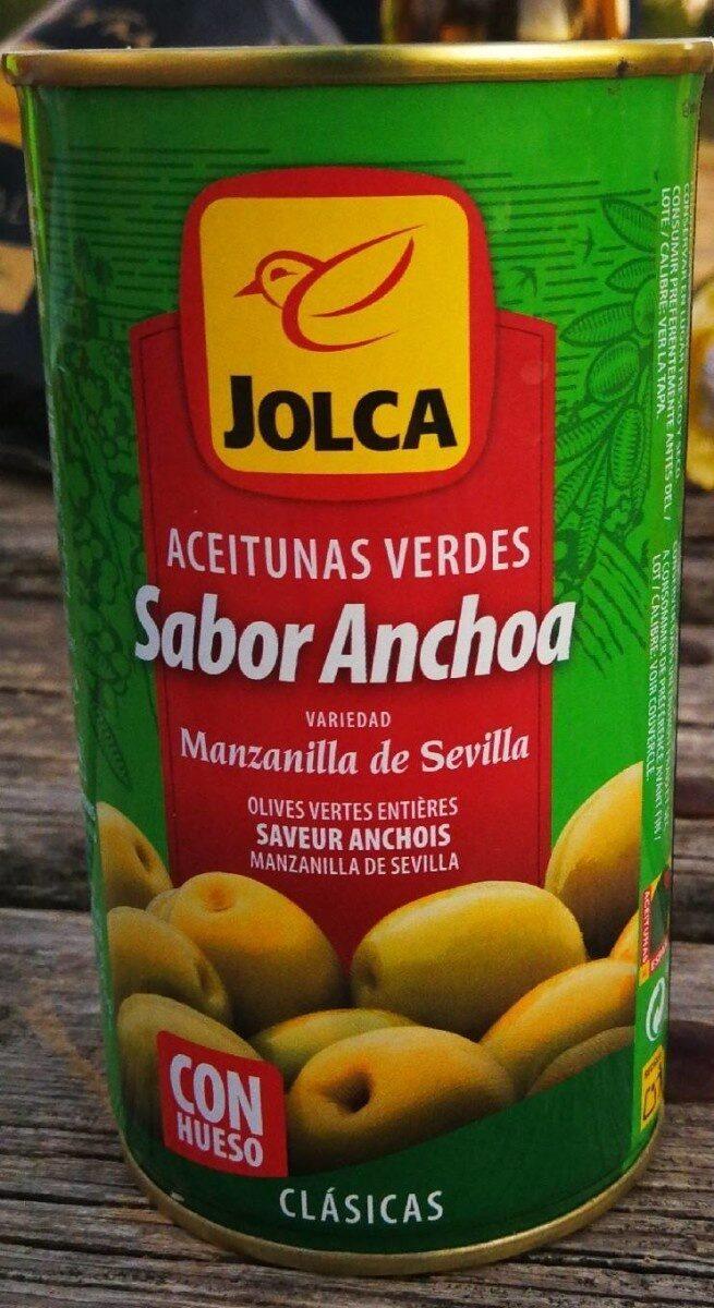Aceitunas manzanilla sabor anchoa - Produit - es