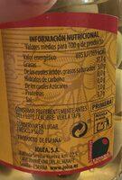 Aceitunas manzanilla de Sevilla sin hueso - Nutrition facts - es