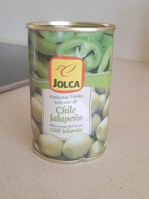 Aceitunas verdes rellenas de Chile Jalapeño - Informations nutritionnelles - fr