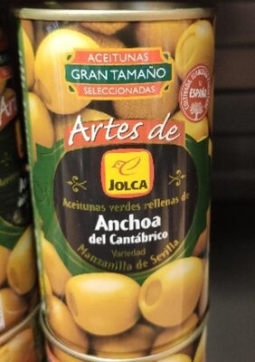 Aceitunas verdes rellenas de anchoa del Cantábrico - Produit - es
