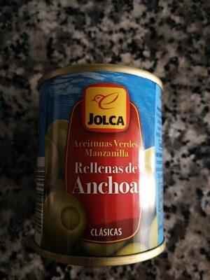 Aceitunas rellenas de anchoa - Información nutricional
