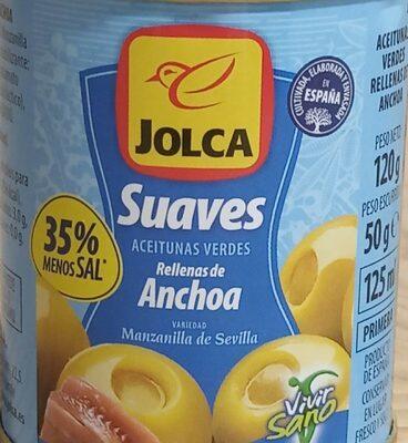 Aceitunas verdes rellenas de anchoa suaves - Nutrition facts