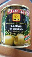 Artes de Jolca - Aceitunas rellenas de anchoa del cantábrico - Producto