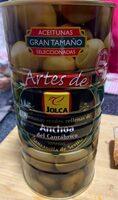 Aceitunas verde rellenas de anchoa del cantabrico - Produit - es