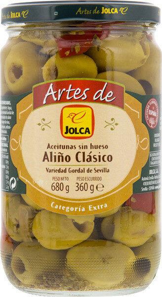 Aceitunas gordal aliñadas sin hueso - Producto - es