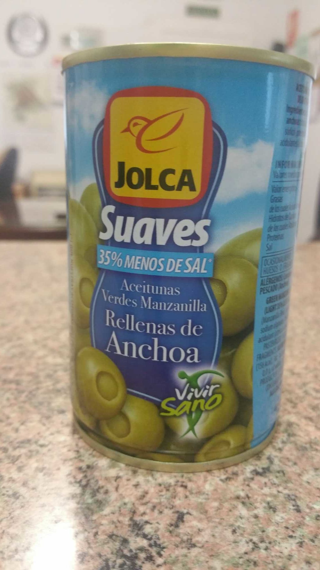 Aceitunas verdes manzanilla rellenas anchoa - Product - es
