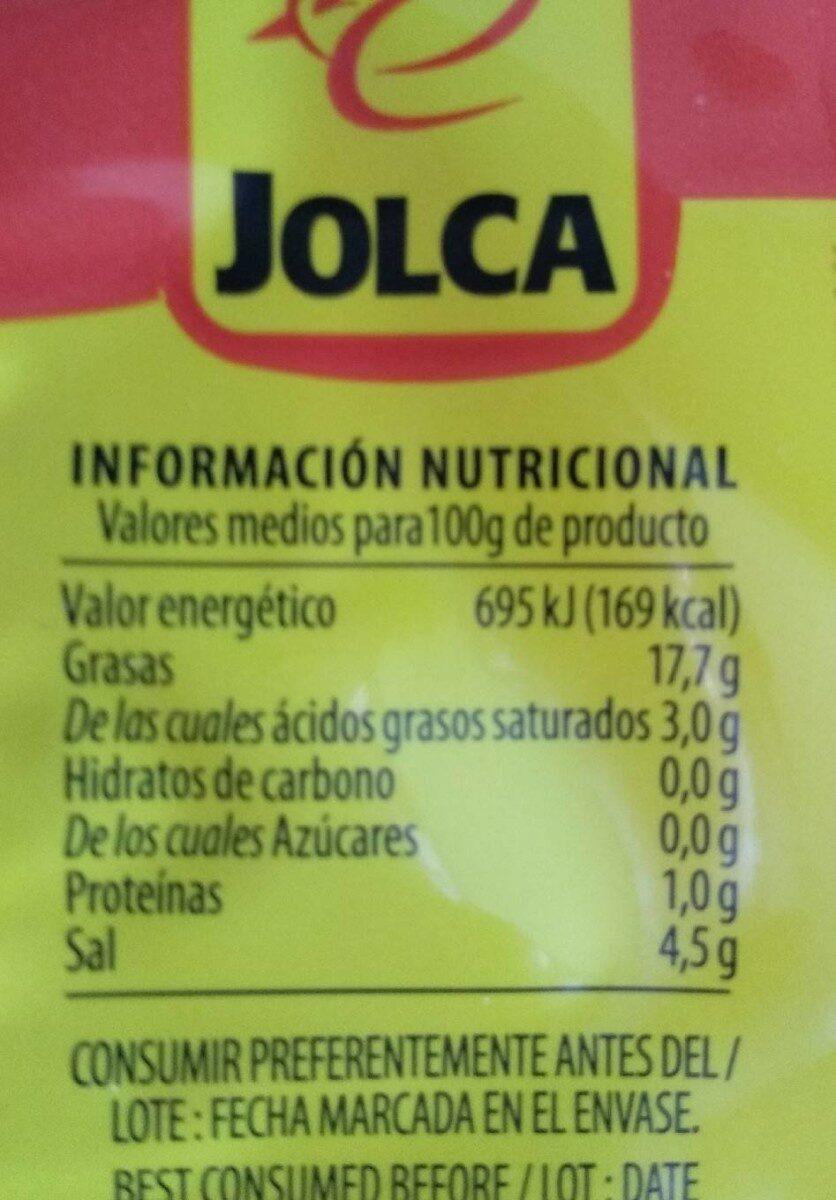 Aceituna - Nutrition facts - en