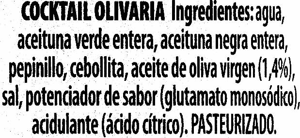 DeTapas - Olivaria - Ingredientes - es