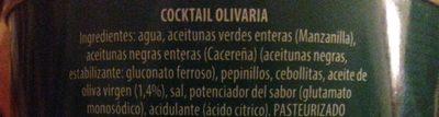 DeTapas Olivaria cocktel de encurtidos lata 1,5 kg - Ingrediënten - es