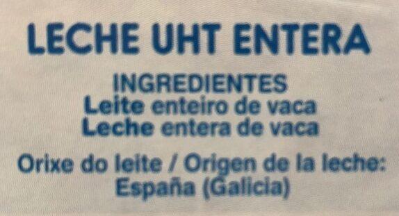 Leite Feiraco enteiro - Ingredients