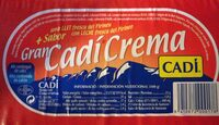Gran cadí crema - Información nutricional