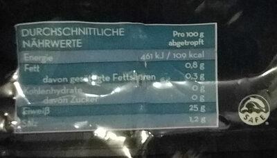 Campos Thunfisch - Nährwertangaben
