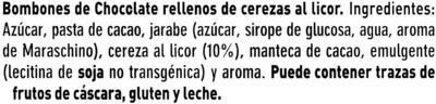 Bombones de chocolate rellenos de cerezas al licor - Ingredientes