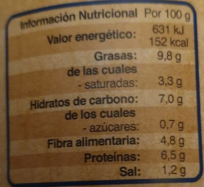 Cocido madrileño - Información nutricional - es