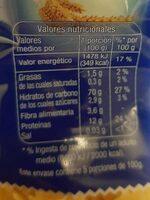 Farfalle - Información nutricional - es