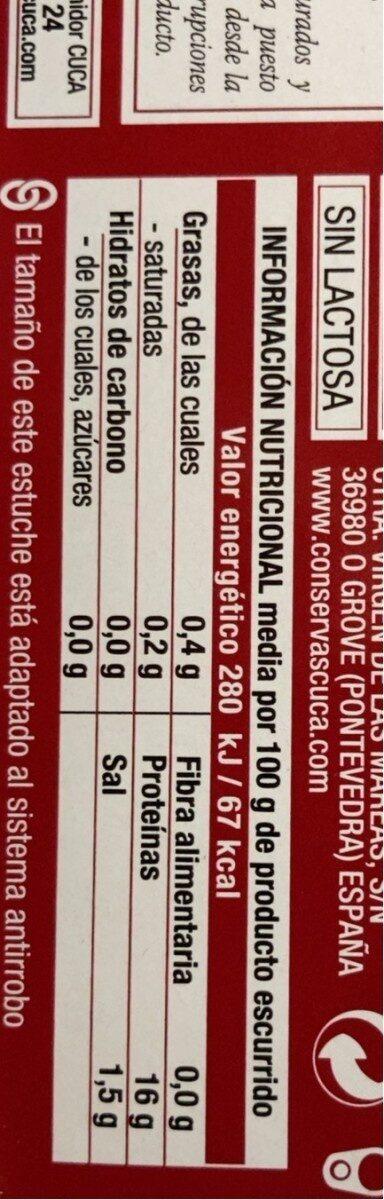 Berberechos al natural - Nutrition facts - es