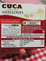 Mejillones en salsa gallega - Nutrition facts - es