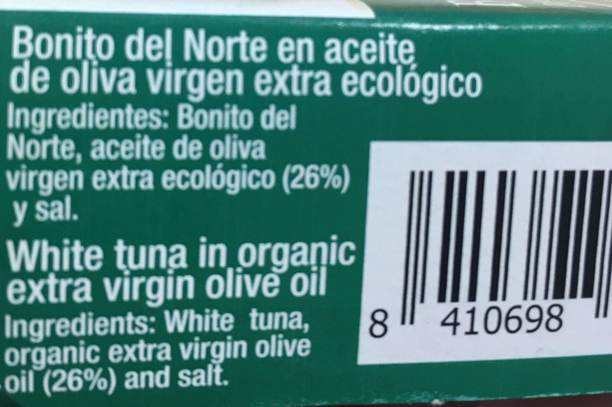 Bonito del Norte en aceite de oliva virgen extra - Ingredientes - es
