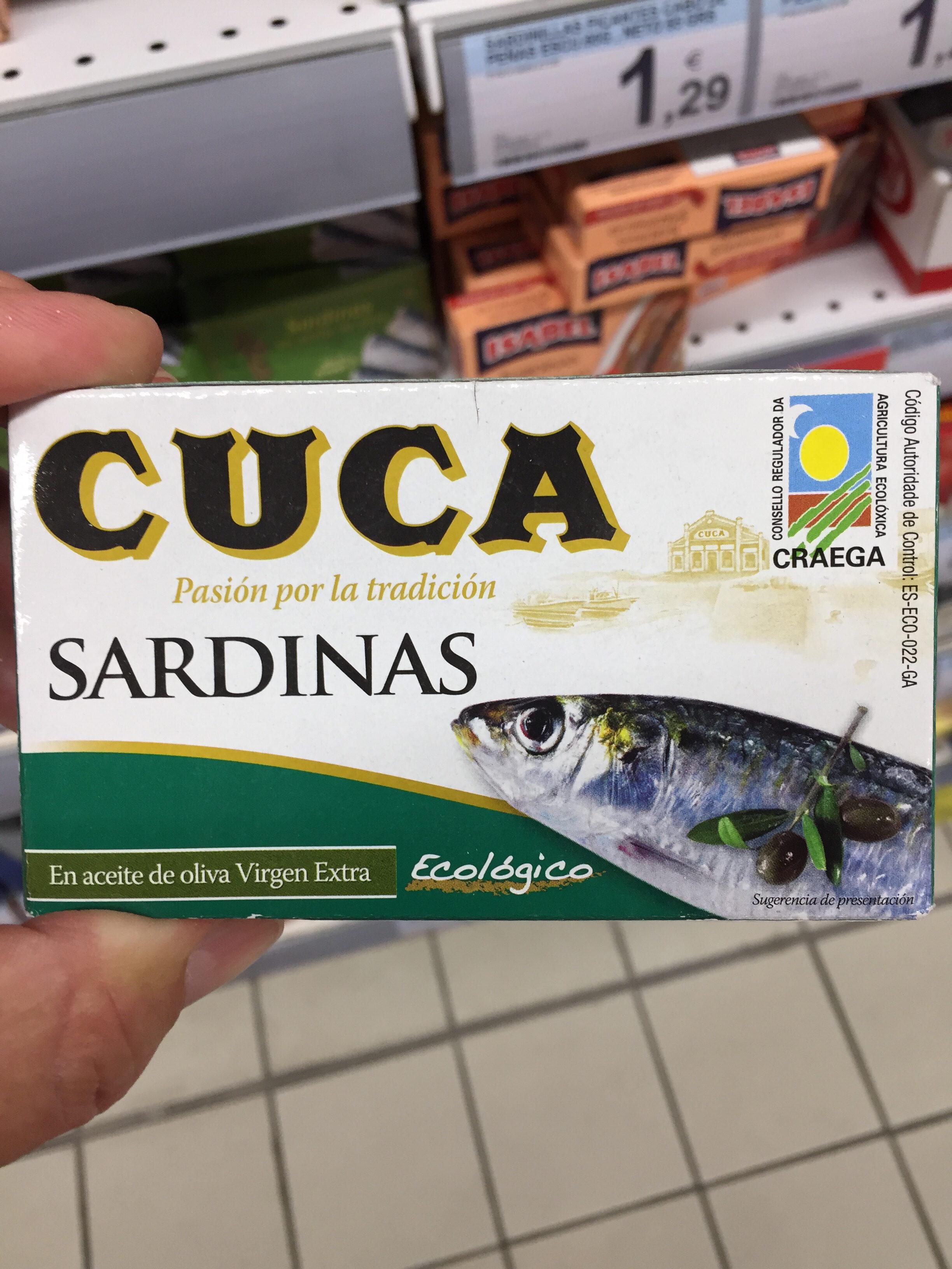 Sardinas Con Aceite De Oliva Virgen Extra Ecológico Cuca - Producte - fr