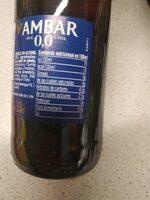 Cerveza 0,0 - Información nutricional - es