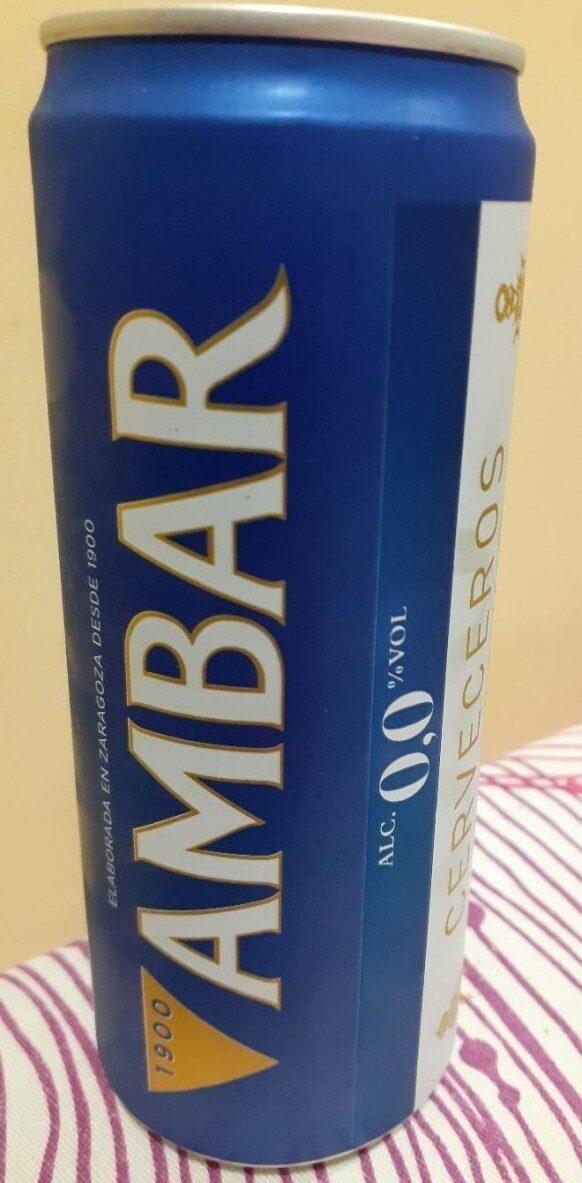 Cerveza ambar 0'0% - Product