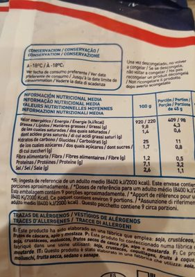Beignet De Morue - Nutrition facts