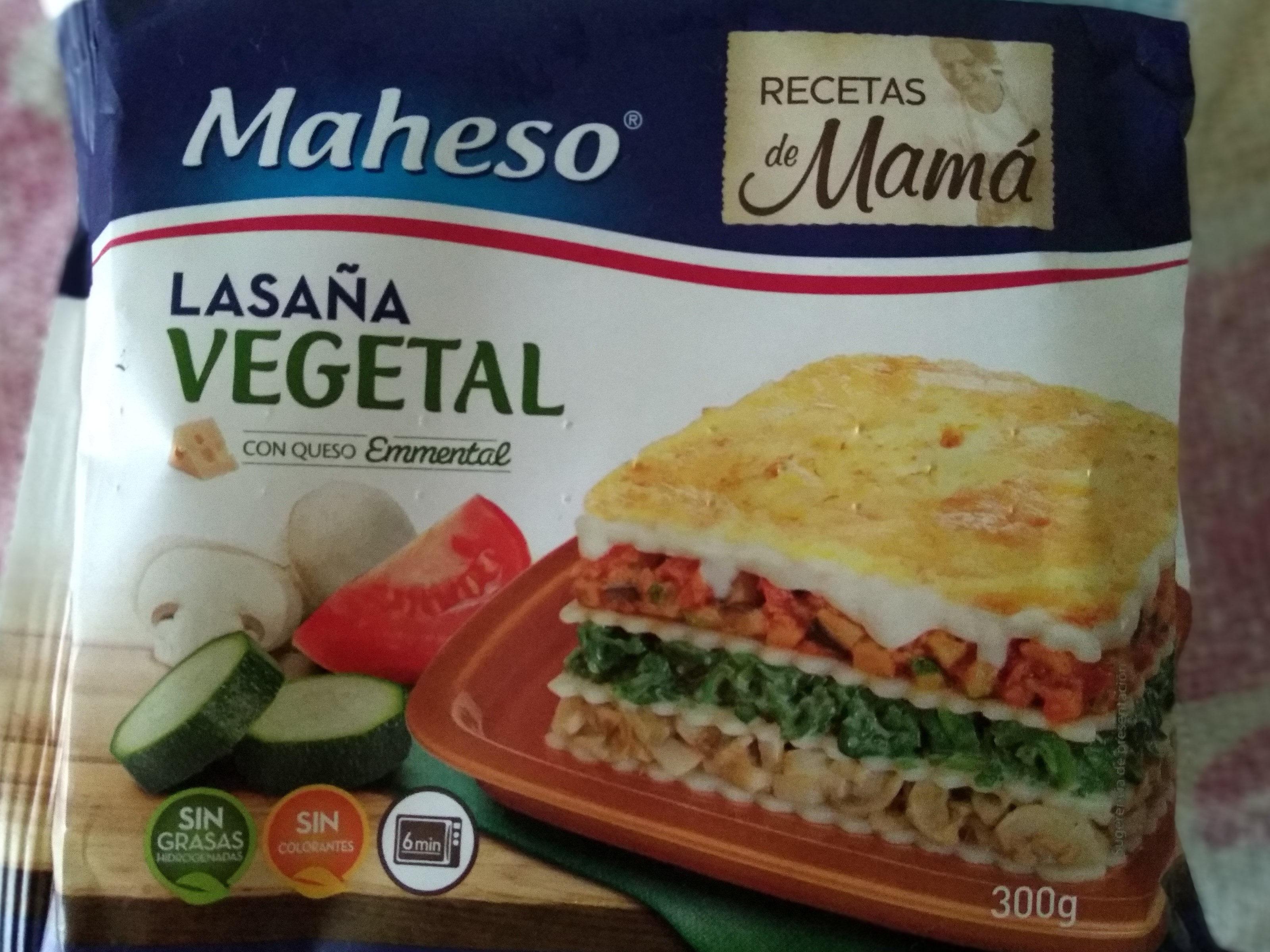 Lasaña vegetal - Product - es