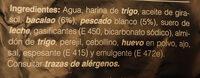 buñuelos de bàcalao - Ingredients