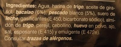Buñuelos de bacalao - Ingredientes