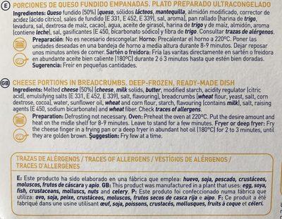 Maheso Varitas de Queso - Ingrédients - fr