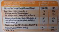 Porras - Nutrition facts