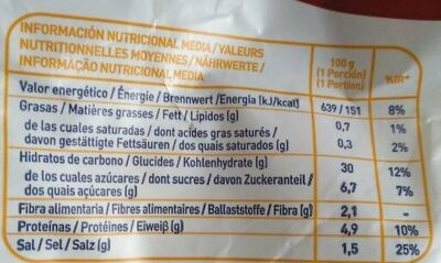 churros artesanos - Informació nutricional