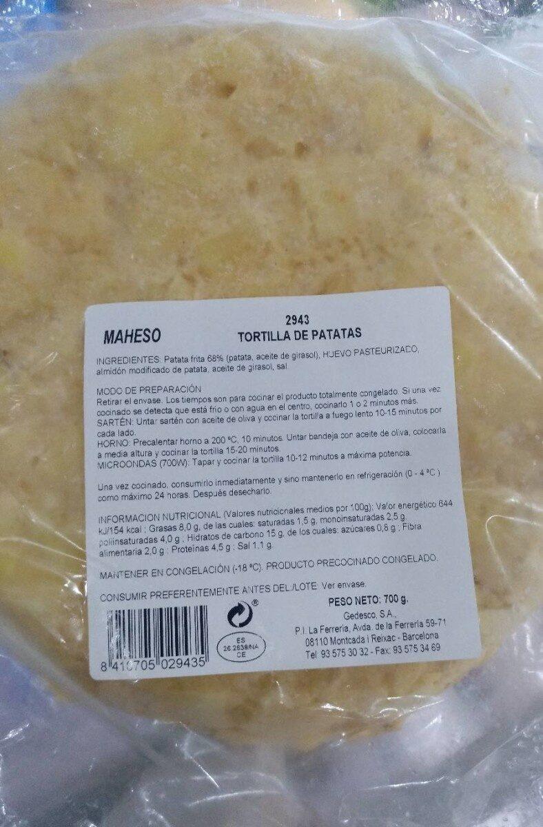 Tortilla de patatas - Producto - es
