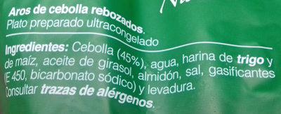Aros de cebolla rebozados - Ingredients