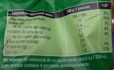 Aros de cebolla rebozados - Informació nutricional