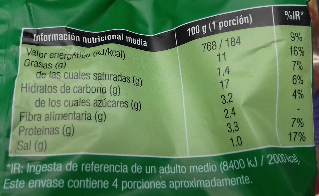 Aros de cebolla rebozados - Informations nutritionnelles - es