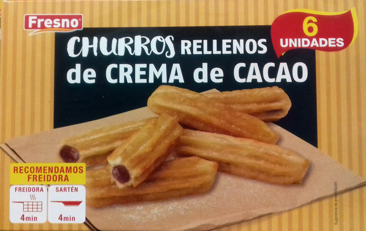 Churros rellenos de crema de cacao - Produit