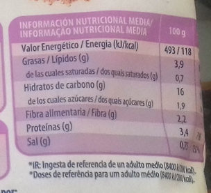 Cous cous con quinoa y verduras - Informació nutricional