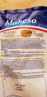 Arroz integral con bulgur - Inhaltsstoffe - es