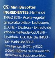 Mini biscotes - Ingrédients
