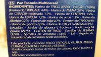 Recondo Multicereal - Ingredientes - es
