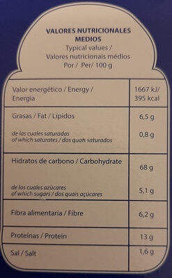 Recondo Multicereal - Información nutricional - es