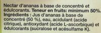 Jus de fruit light saveur ananas - Ingrédients - fr