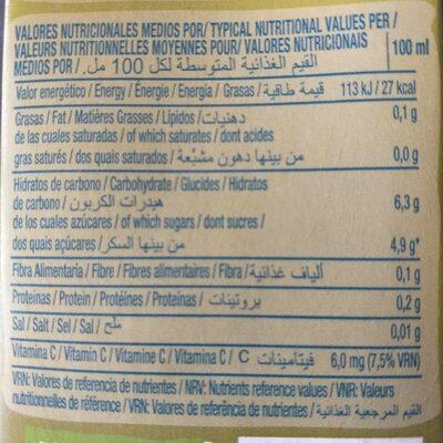 Jus de fruit light saveur ananas - Informations nutritionnelles - fr