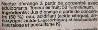 Juver Disfruta Naranja - Ingrediënten
