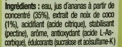 Disfruta Exotico - Ingredients
