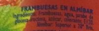 Frambuesas - Ingrédients - es